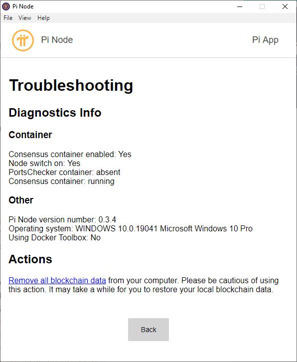 Pi Node Testnet đang chạy thành công