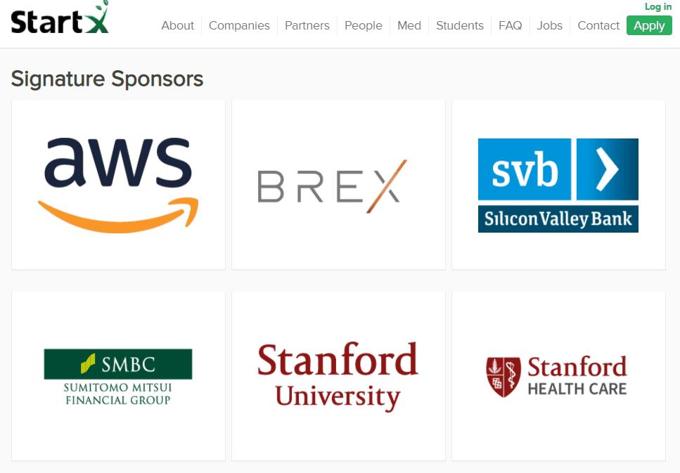Các nhà tài trợ Startx