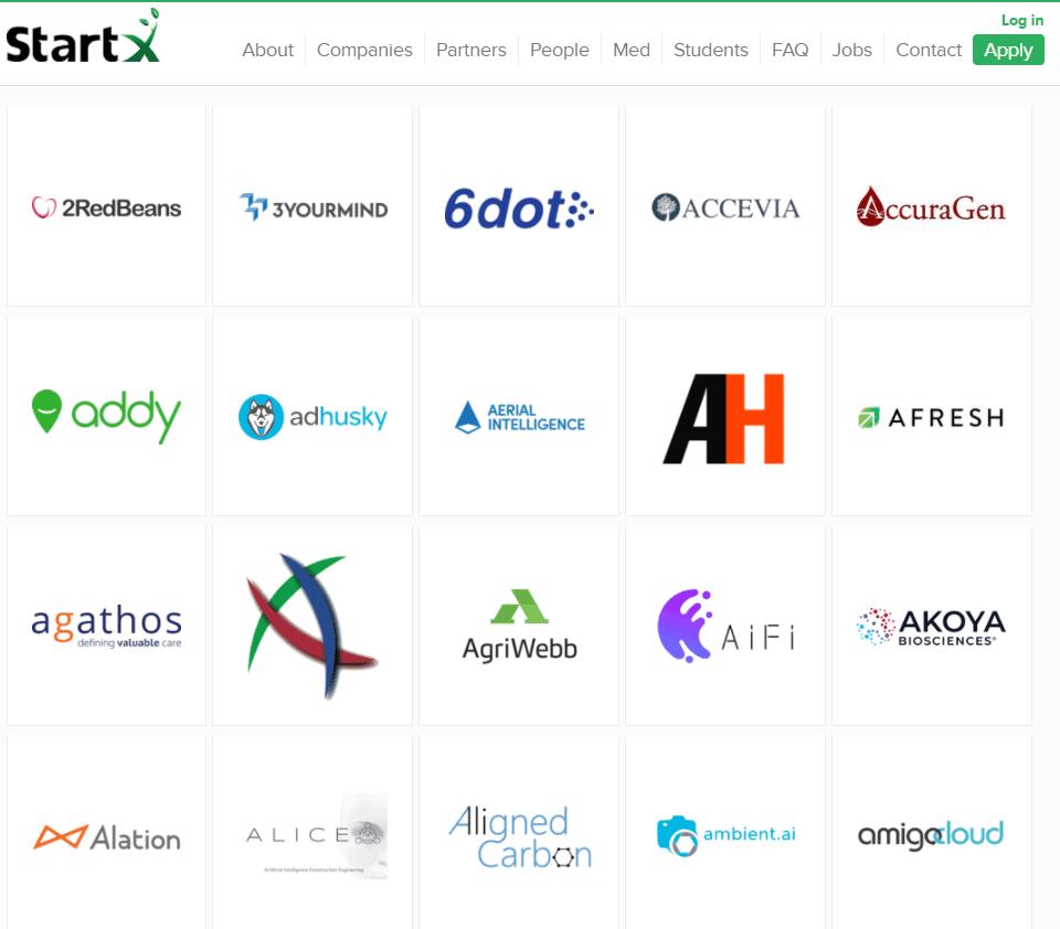 Các công ty thành công trong hệ thống StartX