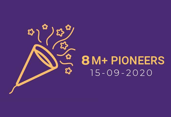 Chúc mừng Pi đạt hơn 8 triệu Pioneers