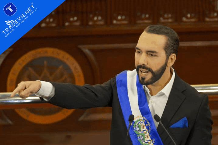 Nayib Bukele, Tổng thống El Salvador, có bài phát biểu trước Quốc hội tại tòa nhà Hội đồng Lập pháp ở San Salvador, El Salvador, vào thứ Ba, ngày 1 tháng 6 năm 2021.