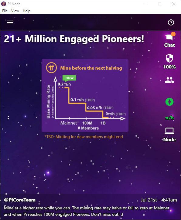 PI Network đã đạt hơn 21 triệu Pioneers tích cực