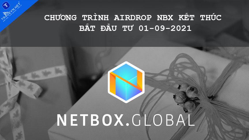 Chương trình Airdrop NBX kết thúc bắt đầu từ 01-09-2021