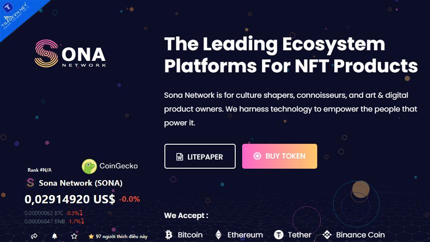 Dự án Sona Network tiềm năng NFT