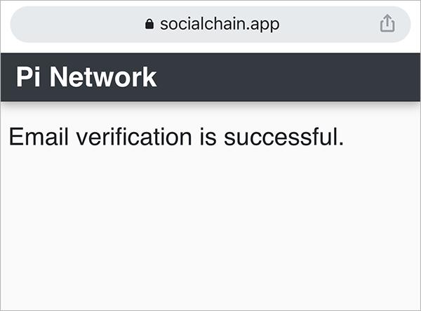 Cách xác thực Email với Pi App, Pi Network